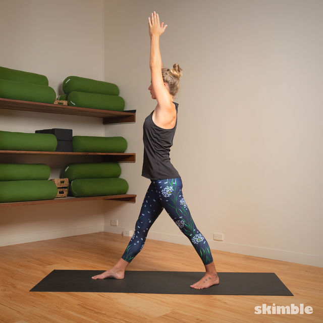 How to do: Standing Separate Leg Head to Knee Pose - Step 5