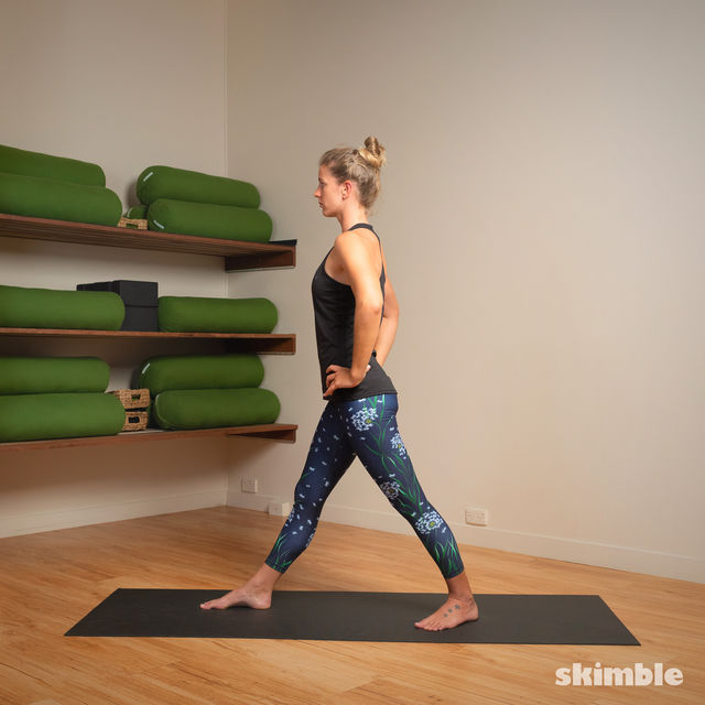 How to do: Standing Separate Leg Head to Knee Pose - Step 6
