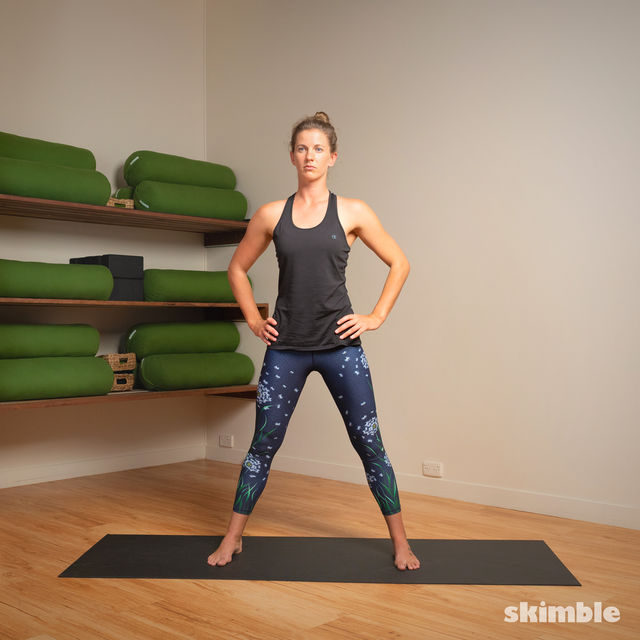 How to do: Standing Separate Leg Head to Knee Pose - Step 7