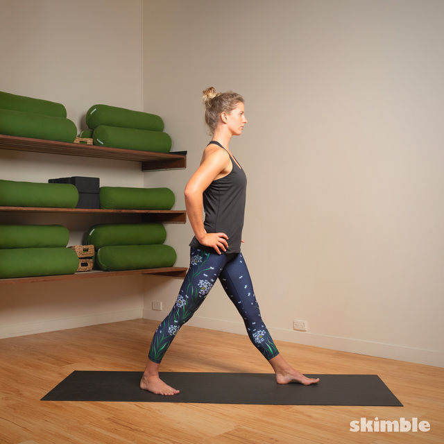 How to do: Standing Separate Leg Head to Knee Pose - Step 8