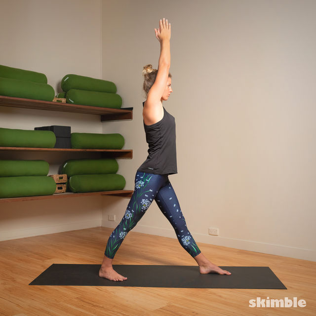 How to do: Standing Separate Leg Head to Knee Pose - Step 11