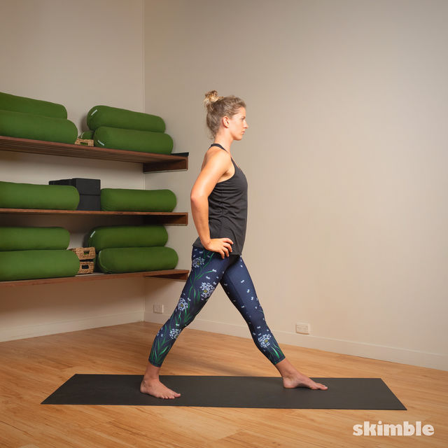 How to do: Standing Separate Leg Head to Knee Pose - Step 12