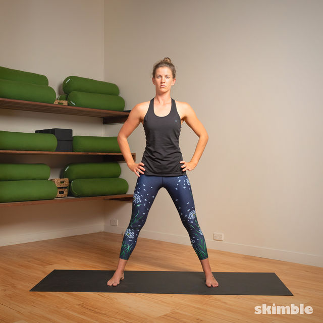 How to do: Standing Separate Leg Head to Knee Pose - Step 13