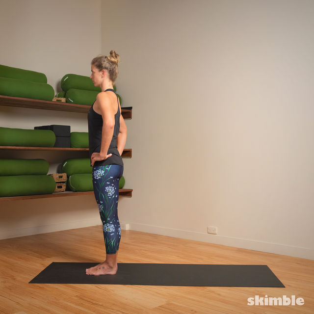 How to do: Standing Separate Leg Head to Knee Pose - Step 14