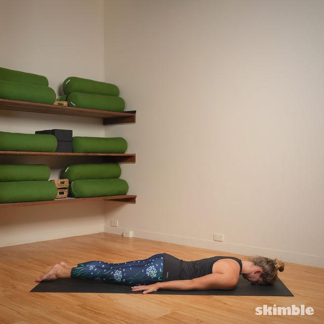 How to do: Full Locust Pose - Step 1
