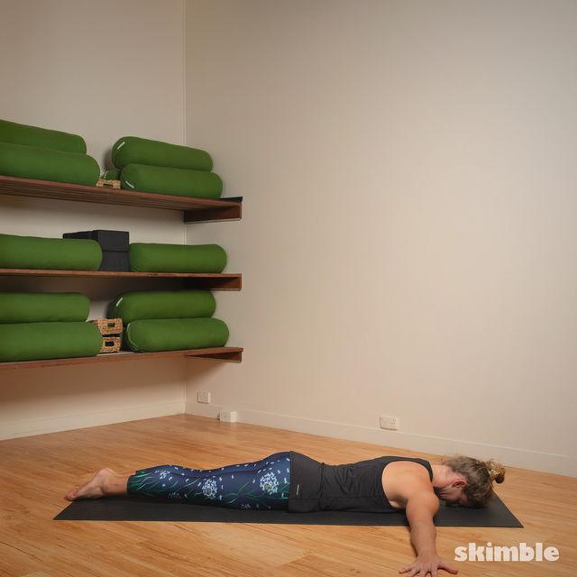 How to do: Full Locust Pose - Step 2