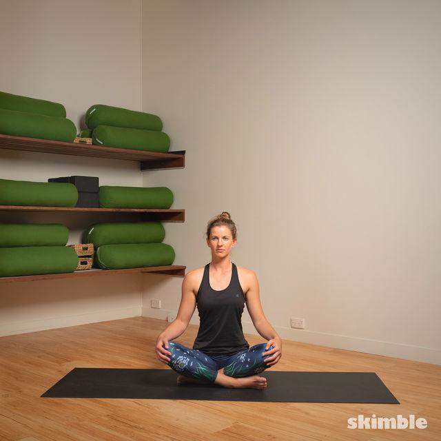 How to do: Head to Knee Pose - Step 1