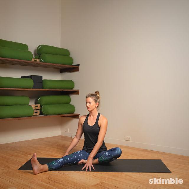 How to do: Head to Knee Pose - Step 2