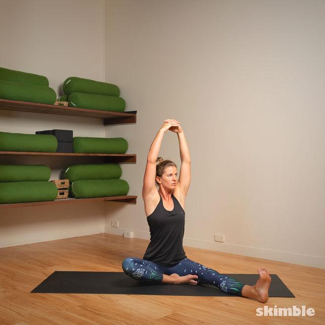 How to do: Head to Knee Pose - Step 10