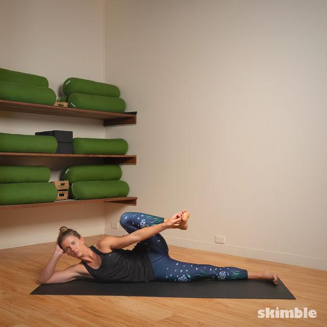 How to do: Lying Left Leg Stretch - Step 2