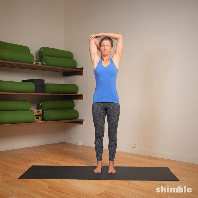 How to do: Right Tricep Stretch - Step 4