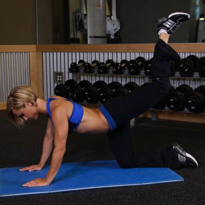 Left Leg Glute Kickback Machine