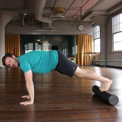 Plank On Foam Roller