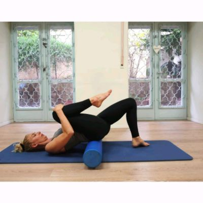 Knee Hug + Split Stretch Foam Roller