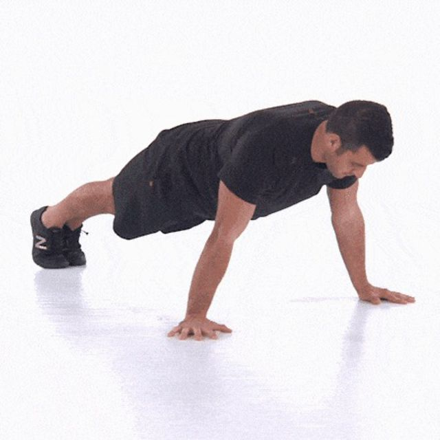 Pushup Chest Squeeze