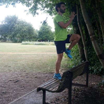 Lunges In Bench (left)