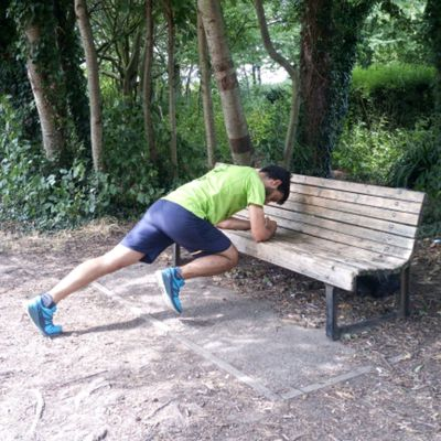 Plank In Bench With Hip Flexion