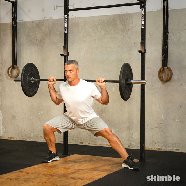 How to do: Barbell Side Split Squat - Step 3