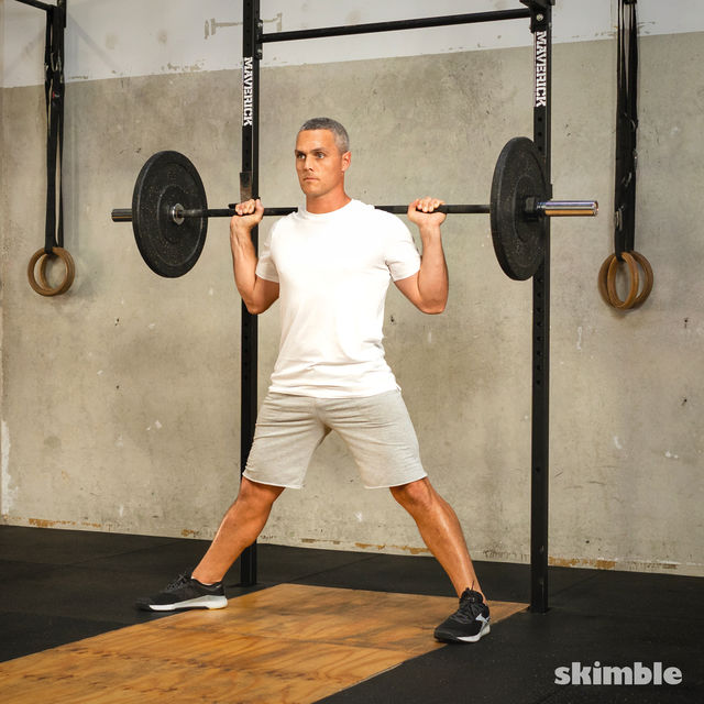 How to do: Barbell Side Split Squat - Step 6