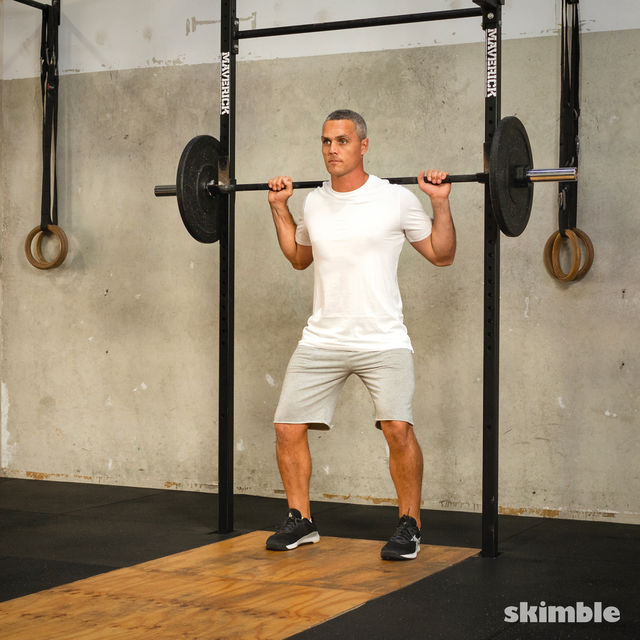 How to do: Barbell Side Split Squat - Step 1