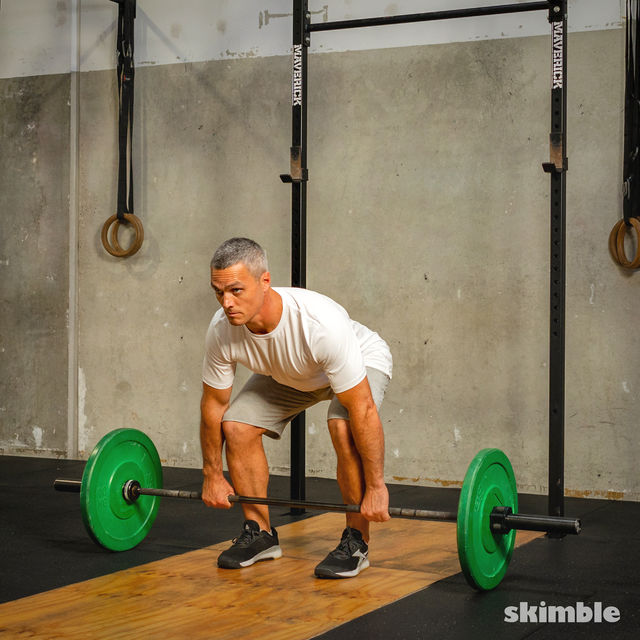 How to do: Barbell Bent-Over Rows - Step 2