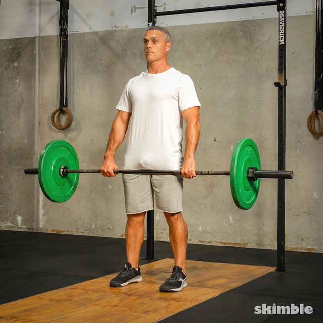 How to do: Barbell Bent-Over Rows - Step 3