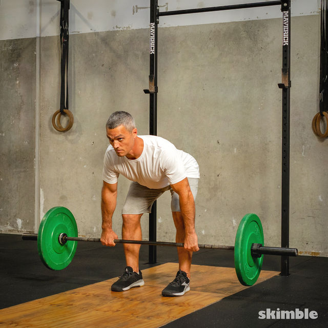 How to do: Barbell Bent-Over Rows - Step 4