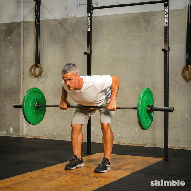 How to do: Barbell Bent-Over Rows - Step 5