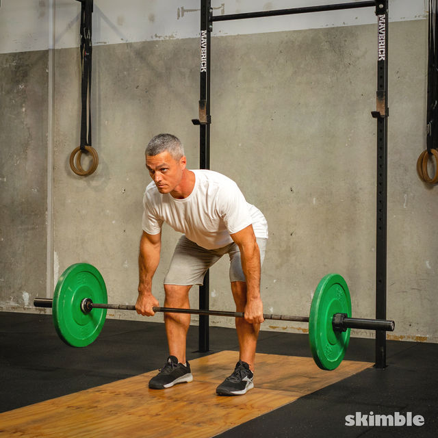 How to do: Barbell Bent-Over Rows - Step 6