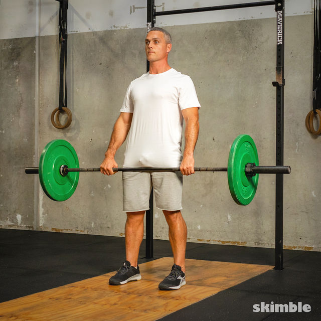 How to do: Barbell Bent-Over Rows - Step 7
