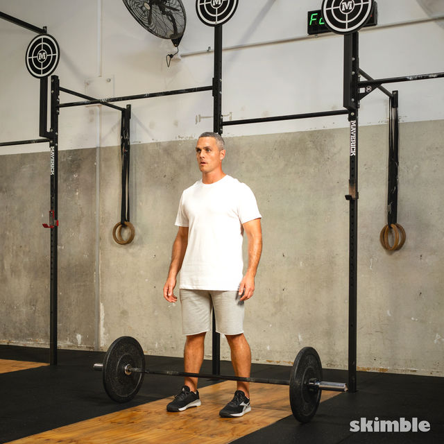 How to do: Barbell Bicep Curl to Press - Step 5
