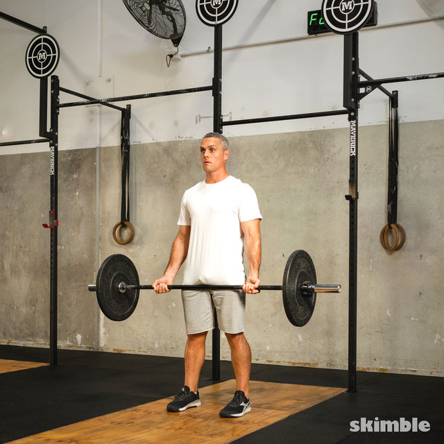 How to do: Barbell Bicep Curl to Press - Step 6