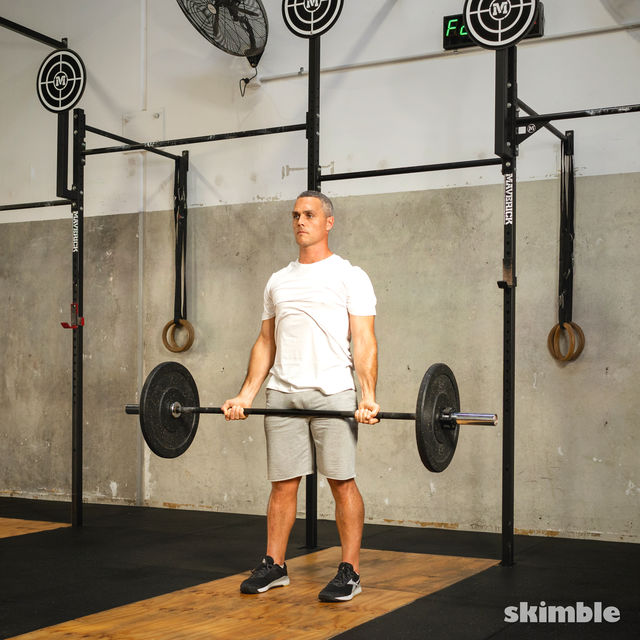 How to do: Barbell Bicep Curl to Press - Step 10