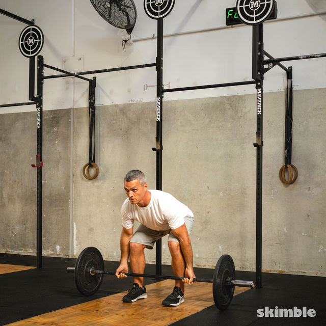How to do: Barbell Bicep Curl to Press - Step 11