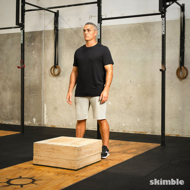 How to do: Burpees on Step - Step 1