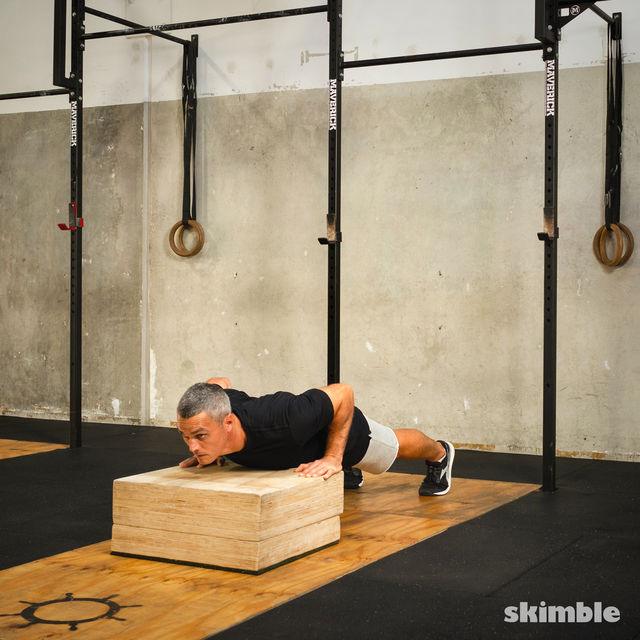 How to do: Burpees on Step - Step 4
