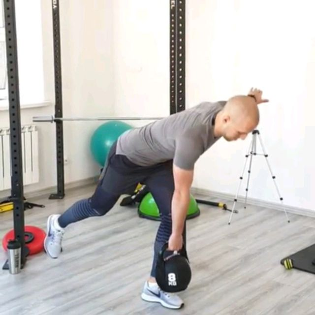 One leg pull + weight lifting