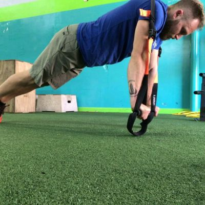 Front Leaning Rest on Rings (TRX Plank)