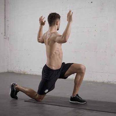 Single Leg Lunge whth Torso Rotation