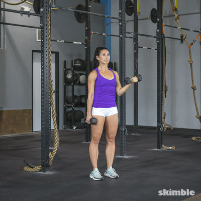 Alternating Dumbbell Curl to Press