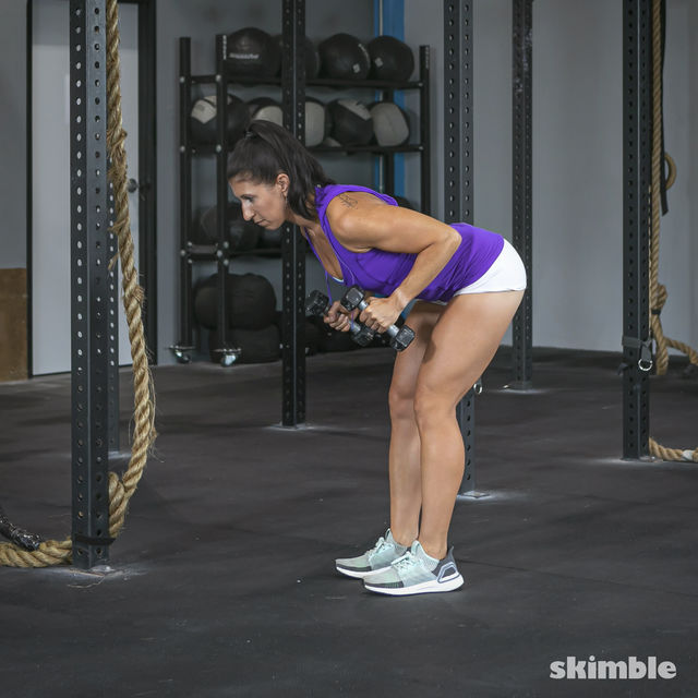 How to do: Bent Over Tricep Kickbacks - Step 1