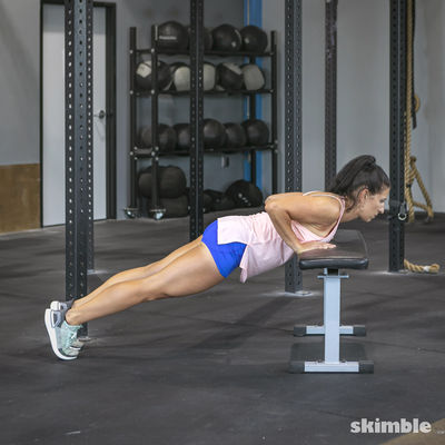 Push-Ups on Bench