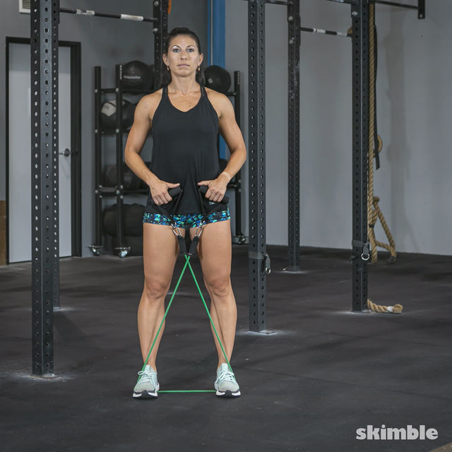 How to do: Lateral Step with Band - Step 1