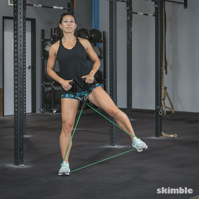 How to do: Lateral Step with Band - Step 2