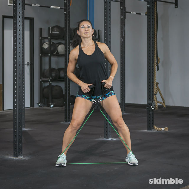 How to do: Lateral Step with Band - Step 3