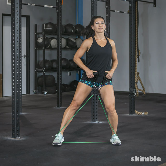 How to do: Lateral Step with Band - Step 4