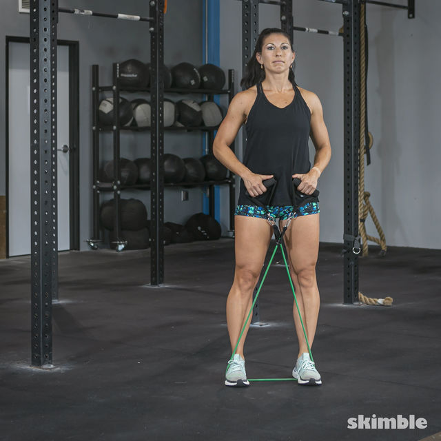 How to do: Lateral Step with Band - Step 5