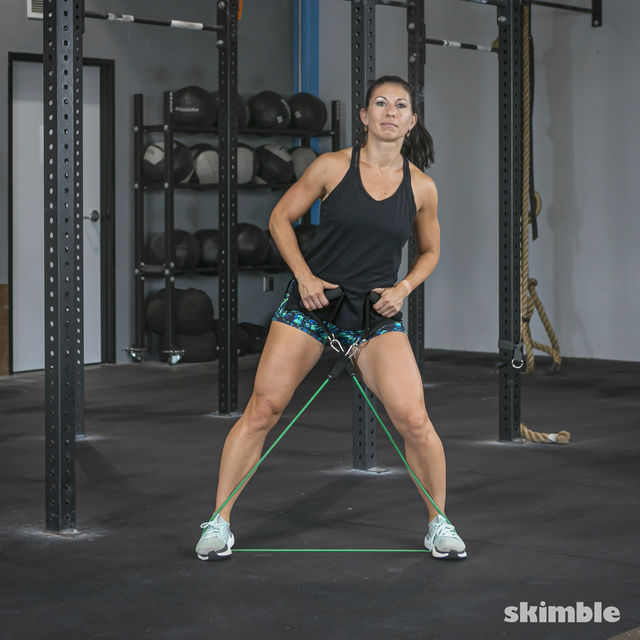 How to do: Lateral Step with Band - Step 7