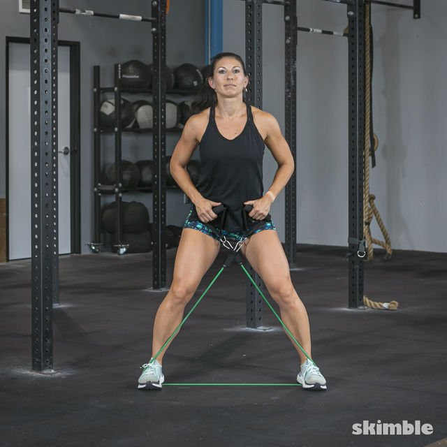 How to do: Lateral Step with Band - Step 8