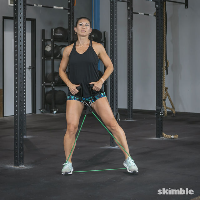 How to do: Lateral Step with Band - Step 9